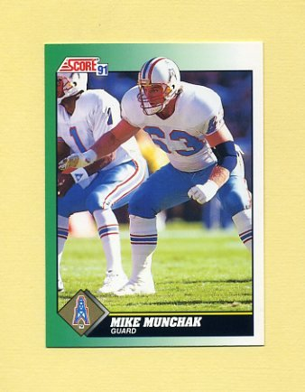 1991 Score Football #256 Mike Munchak - Houston Oilers