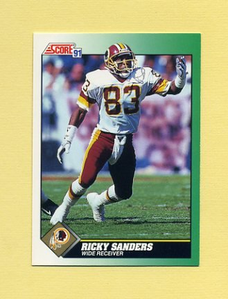 1991 Score Football #253 Ricky Sanders - Washington Redskins
