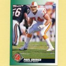 1991 Score Football #249 Paul Gruber - Tampa Bay Buccaneers