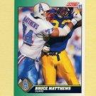 1991 Score Football #242 Bruce Matthews - Houston Oilers