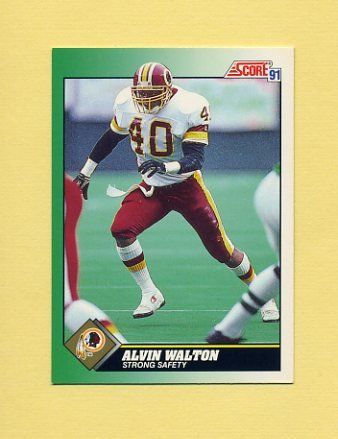 1991 Score Football #240 Alvin Walton - Washington Redskins