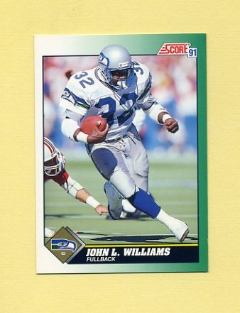 1991 Score Football #232 John L. Williams - Seattle Seahawks