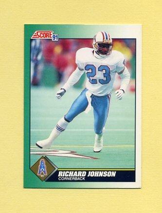 1991 Score Football #229 Richard Johnson RC - Houston Oilers