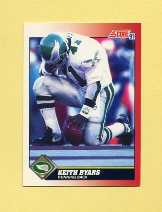 1991 Score Football #220 Keith Byars - Philadelphia Eagles