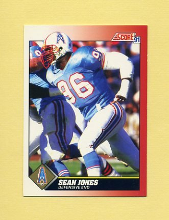 1991 Score Football #196 Sean Jones - Houston Oilers