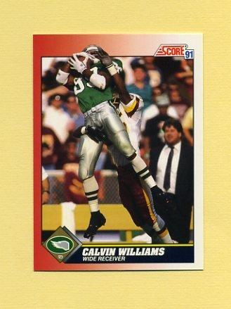 1991 Score Football #195 Calvin Williams - Philadelphia Eagles
