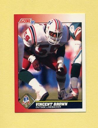 1991 Score Football #194 Vincent Brown - New England Patriots