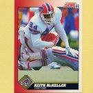 1991 Score Football #192 Keith McKeller - Buffalo Bills