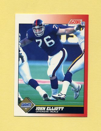 1991 Score Football #176 John Elliott - New York Giants