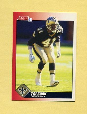 1991 Score Football #175 Toi Cook RC - New Orleans Saints