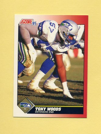 1991 Score Football #171 Tony Woods - Seattle Seahawks