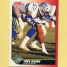 1991 Score Football #171 Tony Woods - Seattle Seahawks