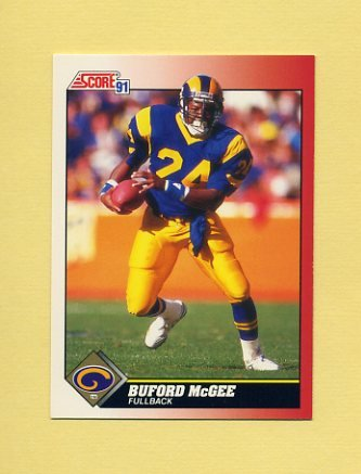 1991 Score Football #164 Buford McGee - Los Angeles Rams