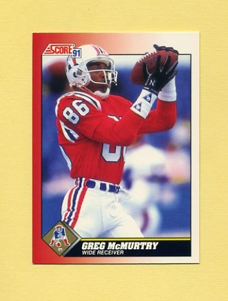 1991 Score Football #161 Greg McMurtry - New England Patriots