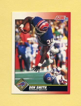 1991 Score Football #160 Don Smith - Buffalo Bills