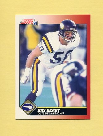 1991 Score Football #158 Ray Berry - Minnesota Vikings