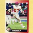1991 Score Football #157 Chris Martin - Kansas City Chiefs