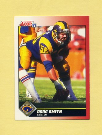 1991 Score Football #156 Doug Smith - Los Angeles Rams