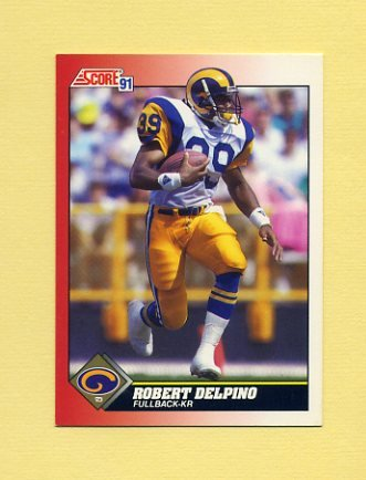 1991 Score Football #155 Robert Delpino - Los Angeles Rams