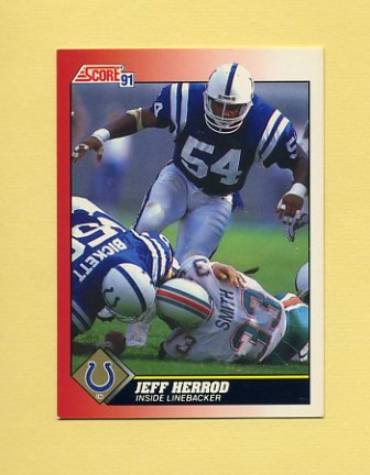 1991 Score Football #132 Jeff Herrod - Indianapolis Colts