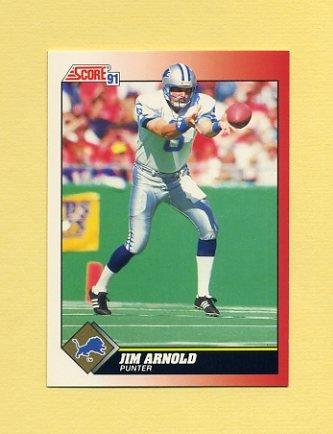 1991 Score Football #131 Jim Arnold - Detroit Lions