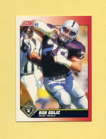 1991 Score Football #129 Bob Golic - Los Angeles Raiders