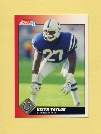 1991 Score Football #127 Keith Taylor - Indianapolis Colts