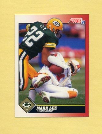1991 Score Football #122 Mark Lee - Green Bay Packers