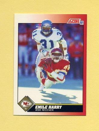 1991 Score Football #120 Emile Harry - Kansas City Chiefs