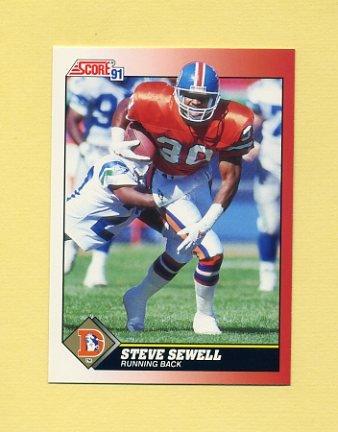 1991 Score Football #118 Steve Sewell - Denver Broncos