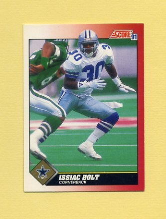 1991 Score Football #117 Issiac Holt - Dallas Cowboys