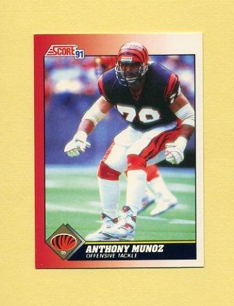 1991 Score Football #115 Anthony Munoz - Cincinnati Bengals