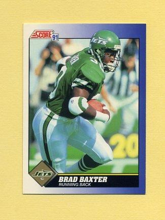 1991 Score Football #108 Brad Baxter - New York Jets