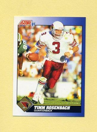 1991 Score Football #095 Timm Rosenbach - Phoenix Cardinals