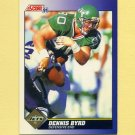 1991 Score Football #094 Dennis Byrd - New York Jets