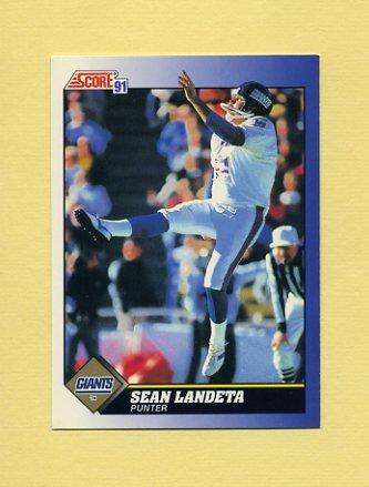 1991 Score Football #092 Sean Landeta - New York Giants