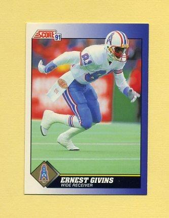 1991 Score Football #081 Ernest Givins - Houston Oilers