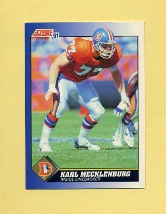 1991 Score Football #077 Karl Mecklenburg - Denver Broncos