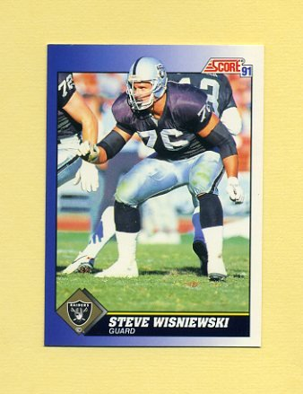 1991 Score Football #076 Steve Wisniewski - Los Angeles Raiders