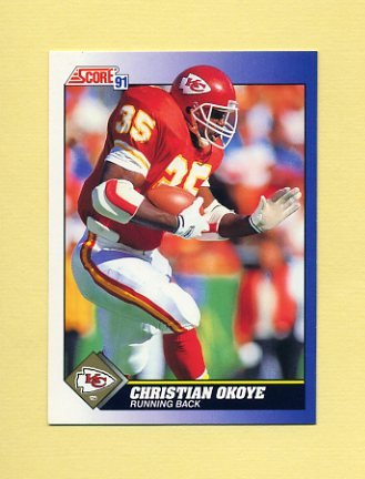 1991 Score Football #070 Christian Okoye - Kansas City Chiefs