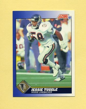 1991 Score Football #058 Jessie Tuggle - Atlanta Falcons