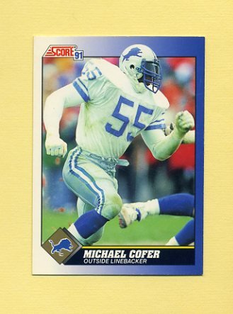 1991 Score Football #055 Michael Cofer - Detroit Lions