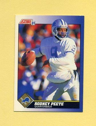 1991 Score Football #047 Rodney Peete - Detroit Lions