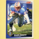 1991 Score Football #045 Allen Pinkett - Houston Oilers
