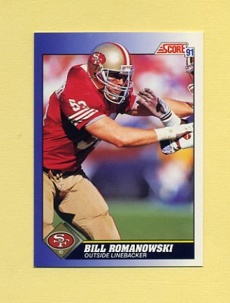 1991 Score Football #036 Bill Romanowski - San Francisco 49ers