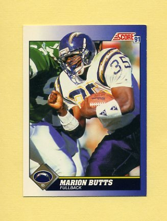 1991 Score Football #013 Marion Butts - San Diego Chargers