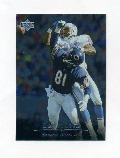 1996 Upper Deck Silver Football #192 Darryll Lewis UER - Houston Oilers