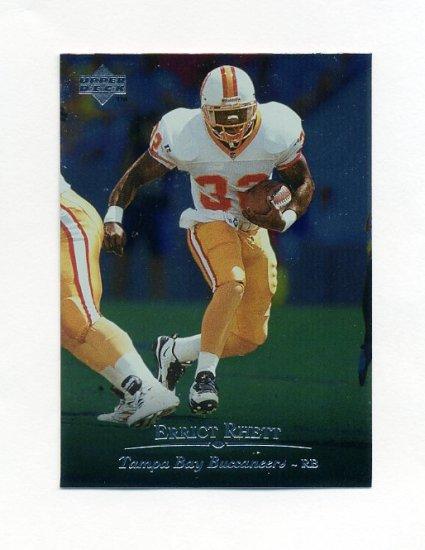 1996 Upper Deck Silver Football #179 Errict Rhett - Tampa Bay Buccaneers