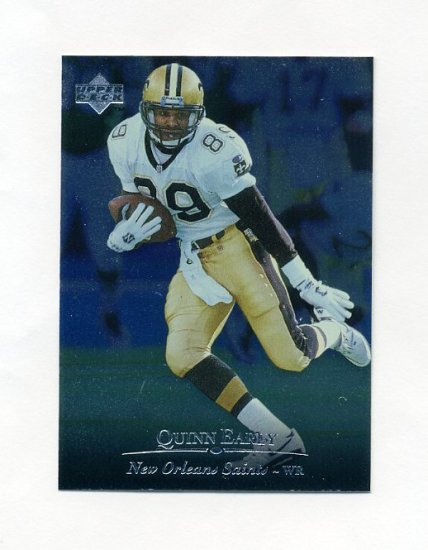 1996 Upper Deck Silver Football #049 Quinn Early - New Orleans Saints