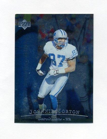 1996 Upper Deck Silver Football #010 Johnnie Morton - Detroit Lions